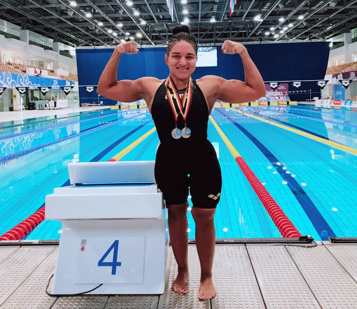 Alejandra Aybar logra dos platas en Serie Mundial Natación IDM Berlín