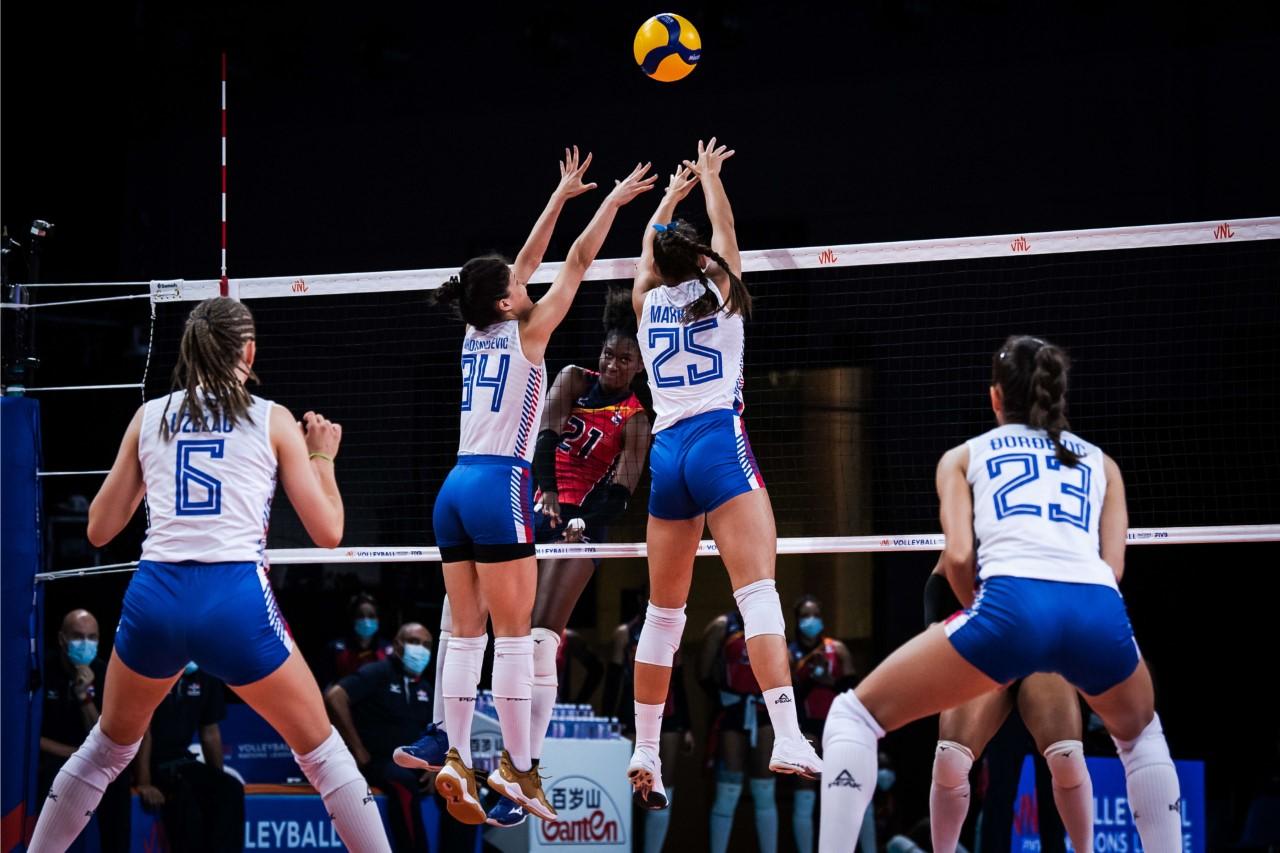 Sexteto RD barre a Serbia en la Liga de Naciones de voleibol