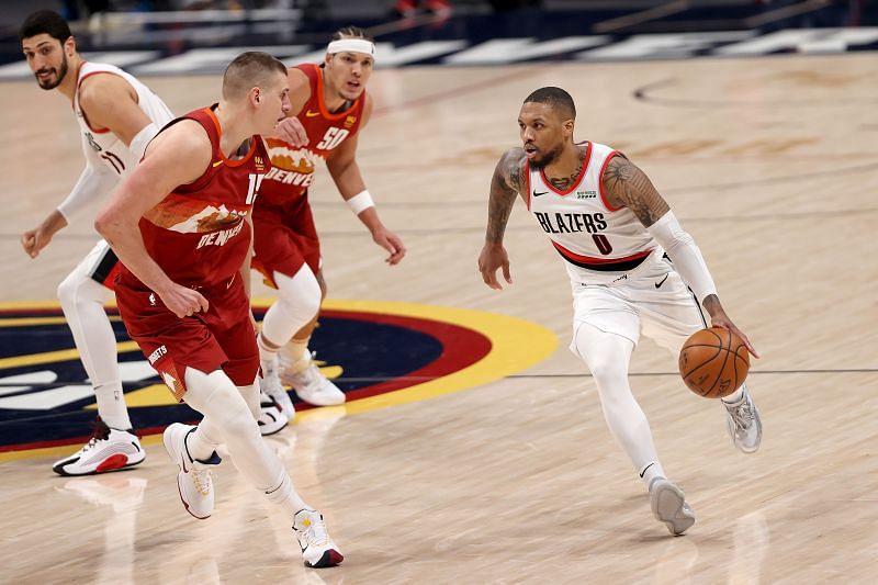 Denver arruina histórica noche de Damian Lillard; Nets avanzan