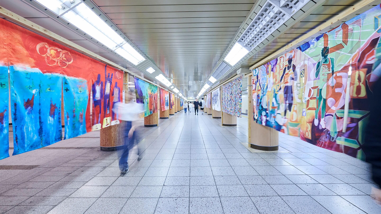 Artistas interpretan valores olímpicos a través de una serie de obras de arte