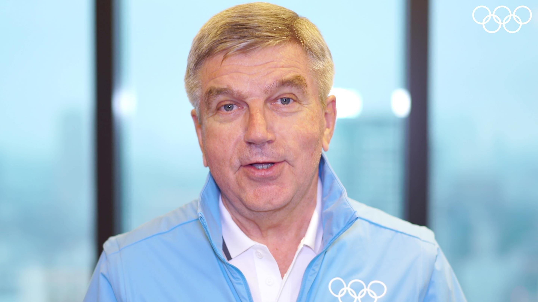 Presidente Bach envía un mensaje a los atletas olímpicos
