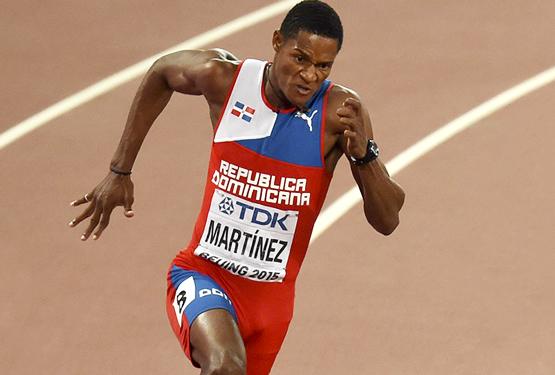 Yancarlos Martínez se queda corto en avanzar a la final 200 metros