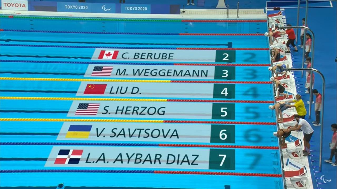 Alejandra Aybar culmina sexto en 100 metros pecho