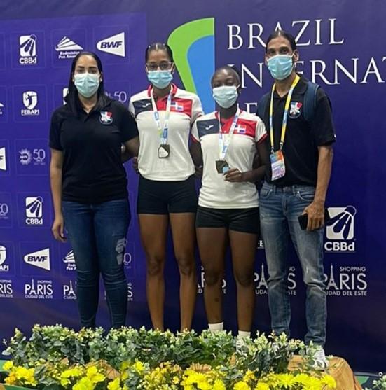 Claritsa Pie y Juleixi Acosta, bronce en bádminton de Brasil