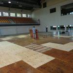 Reparan tabloncillo Pabellón de Esgrima del Centro Olímpico Juan Pablo Duarte