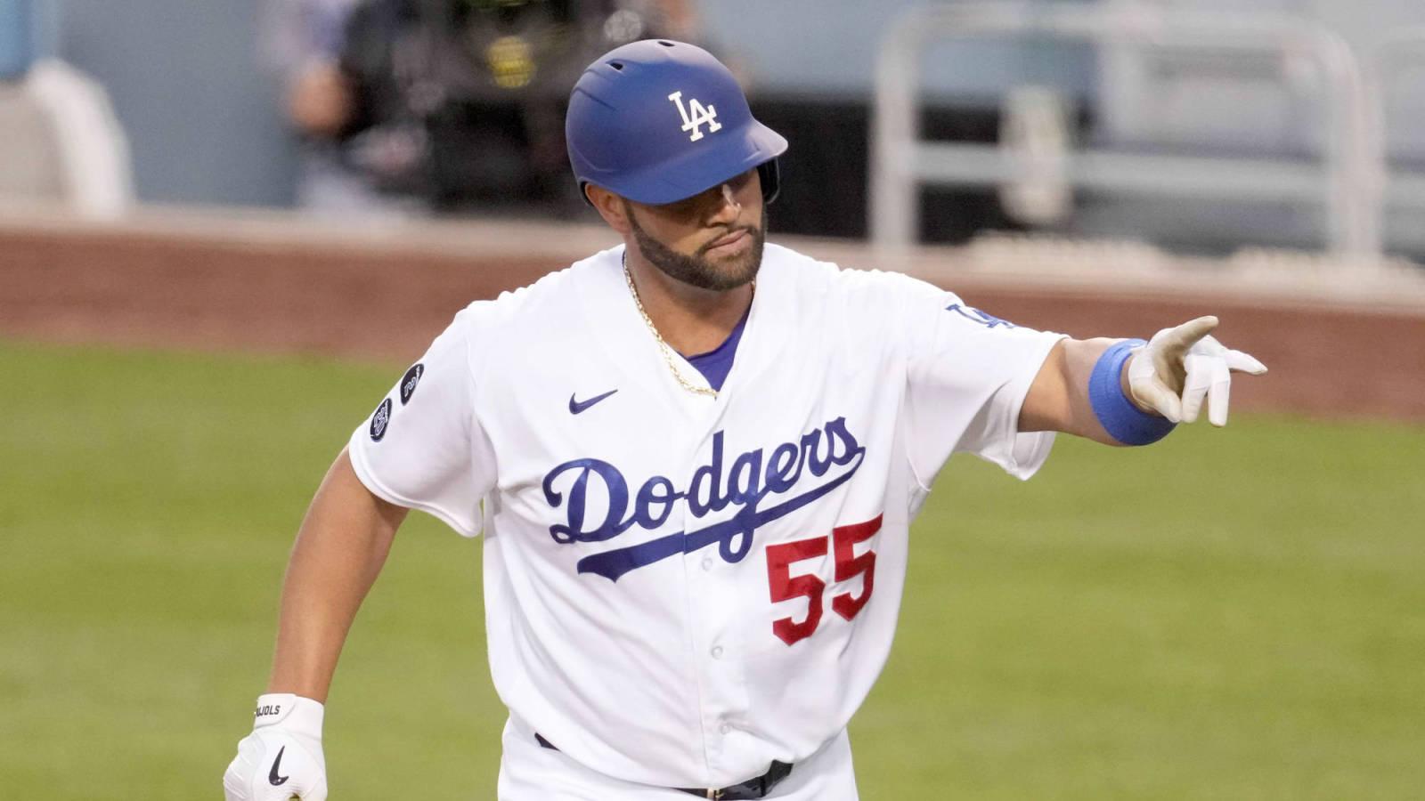 Albert Pujols estará en la alineación de los Dodgers para el juego tres