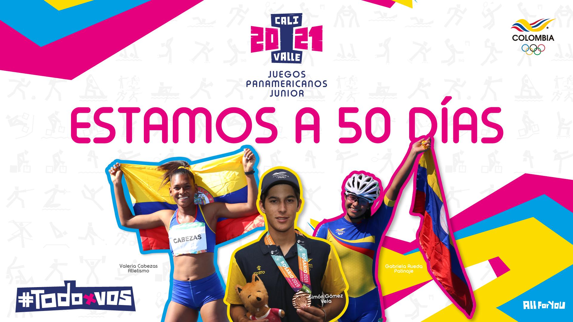 A 50 días Juegos Panam Junior, el inicio del camino a París 2024