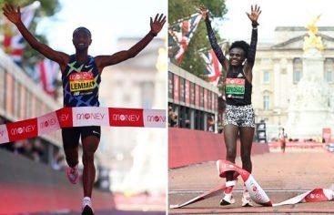 Sisa Lemma y Joyciline Jepkosgei reinan en el maratón de Londres
