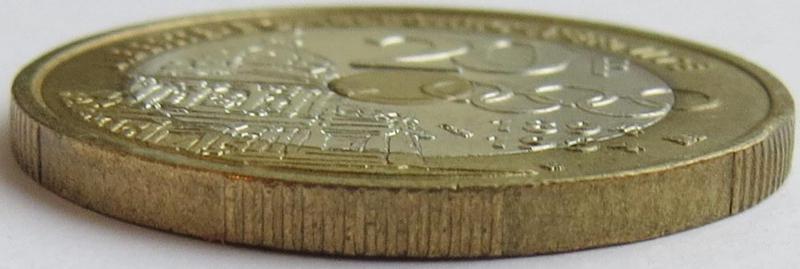 Coin 20 Francs (Pierre de Coubertin) France edge