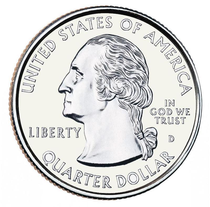 "Coin ¼ Dollar ""Washington Quarter"" (Pennsylvania) United States of America obverse"