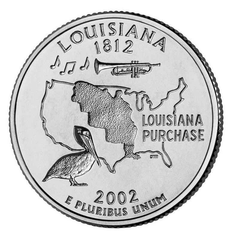 "Coin ¼ Dollar ""Washington Quarter"" (Louisiana) United States of America reverse"