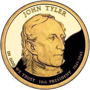 Coin 1 Dollar (John Tyler) United States of America obverse