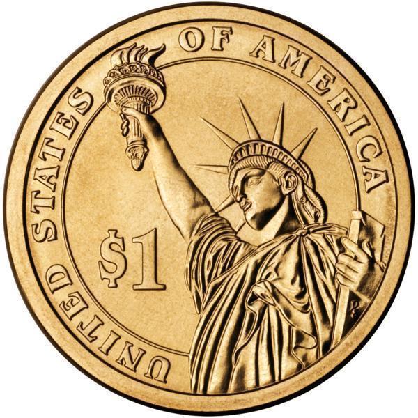 Coin 1 Dollar (John Tyler) United States of America reverse