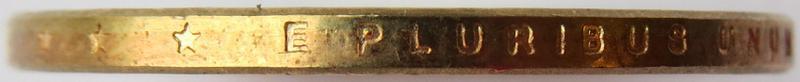 Coin 1 Dollar (John Tyler) United States of America edge