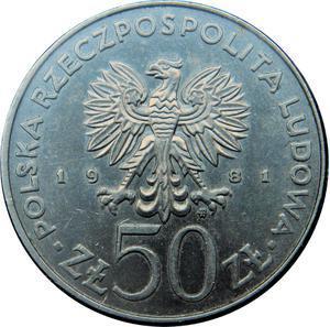Coin 50 Złotych (FAO - World Food Day) Poland obverse