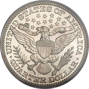 "Coin ¼ Dollar ""Barber Quarter""  reverse"