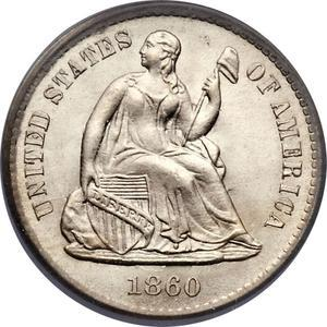 Coin ½ Dime - Seated Liberty (obverse legend)  obverse