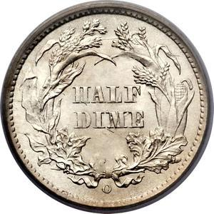 Coin ½ Dime - Seated Liberty (obverse legend)  reverse