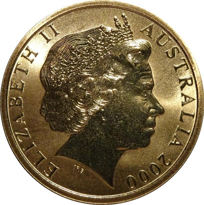 Coin 5 Dollars - Elizabeth II (Basketball) Australia obverse