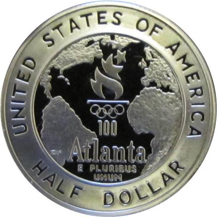 Coin ½ Dollar (Atlanta Olympics - Baseball) United States of America reverse