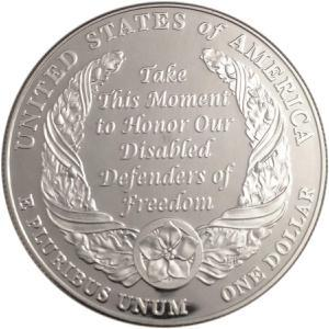 Coin 1 Dollar (American Veterans Disabled for Life)  reverse