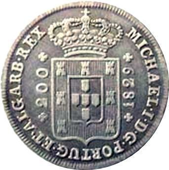 Coin 12 Vinténs - Miguel I Portugal obverse