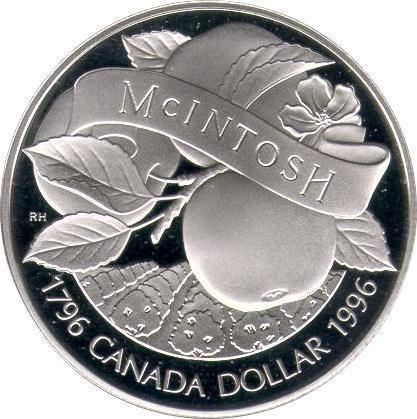Collectgram | 1 Dollar - Elizabeth II (McIntosh Apple) - Canada