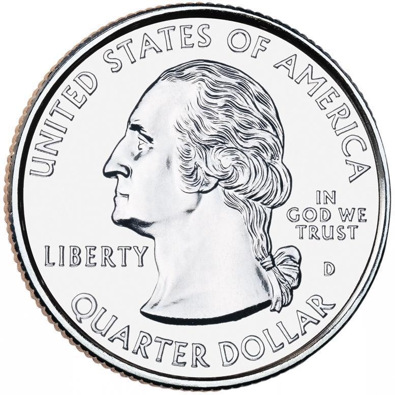 "Coin ¼ Dollar ""Washington Quarter"" (Vicksburg National Military Park, Mississippi) United States of America obverse"