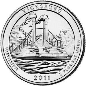 "Coin ¼ Dollar ""Washington Quarter"" (Vicksburg National Military Park, Mississippi)  reverse"