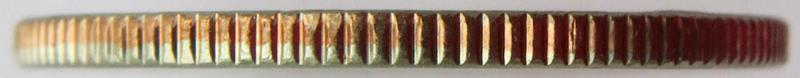 "Coin ¼ Dollar ""Washington Quarter"" (Vicksburg National Military Park, Mississippi) United States of America edge"