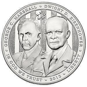 Coin 1 Dollar (5-Star Generals)  obverse