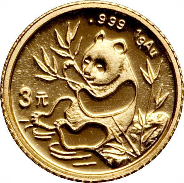 "Coin 3 Yuán (""Panda"" Gold Bullion Coinage)  reverse"