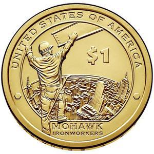 Coin 1 Dollar (Mohawk Ironworkers)  reverse