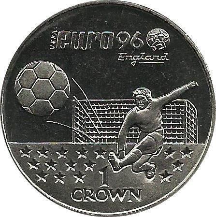 Coin 1 Crown - Elizabeth II (Euro Championship) Gibraltar reverse