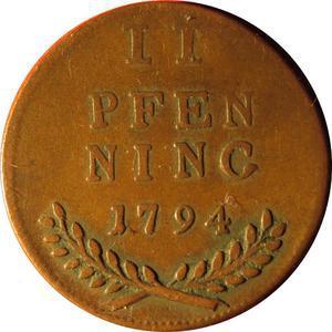 Coin 2 Pfennig - Hieronymus von Colloredo  reverse