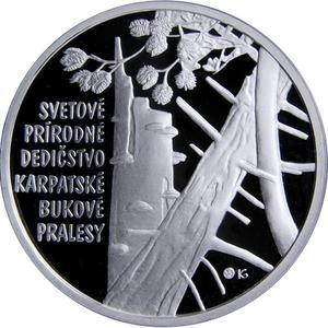 Coin 10 Euro (Primeval beech forest of the Carpathians) Slovakia reverse