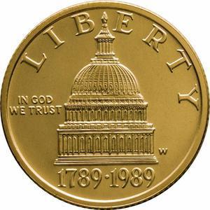 Coin 5 Dollars (Congress Bicentennial)  obverse