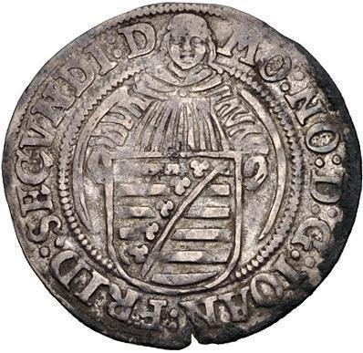 Coin 1 Schreckenberger - Johann Friedrich II. (Saalfeld)  obverse