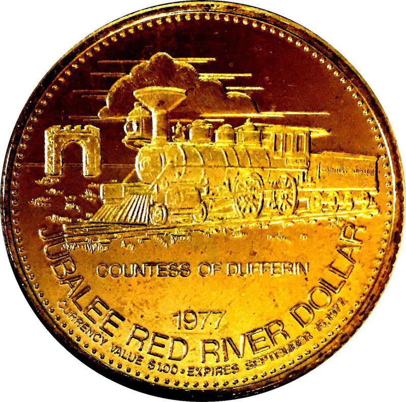 Collectgram   Winnipeg, Manitoba - Jubalee Red River Dollar - * Tokens *