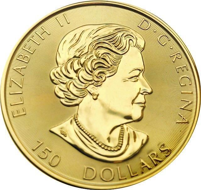 Collectgram | 150 Dollars - Elizabeth II ( 1 oz  Gold Bullion