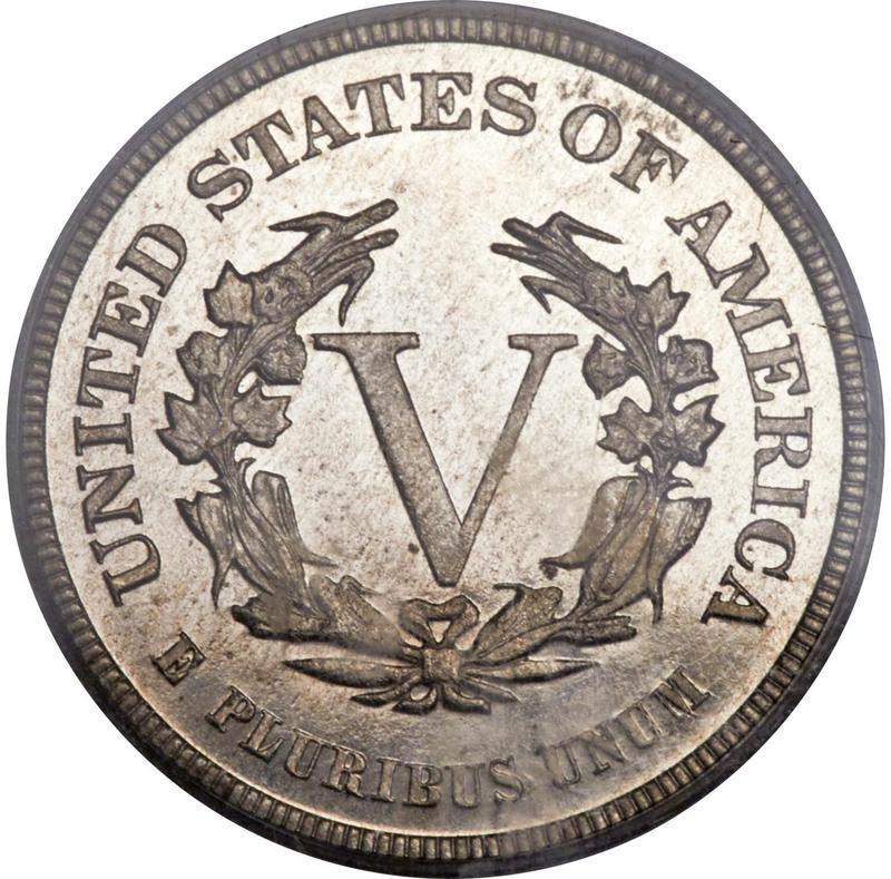 """Coin 5 Cents """"V Nickel"""" (Pattern) United States of America reverse"""