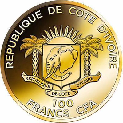Coin 100 Francs CFA (Olympian Statue of Jupiter)  obverse