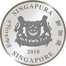 Coin 10 Dollars (Year of the Tiger) Singapore obverse