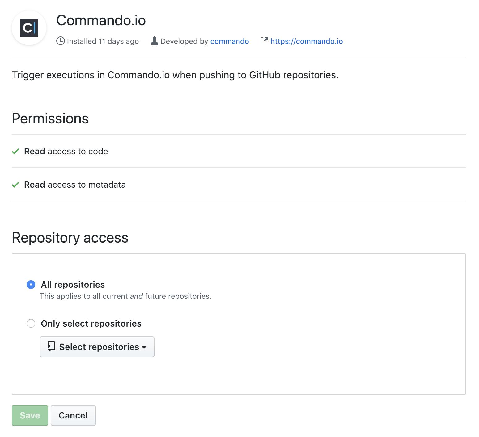 GitHub App Configuration