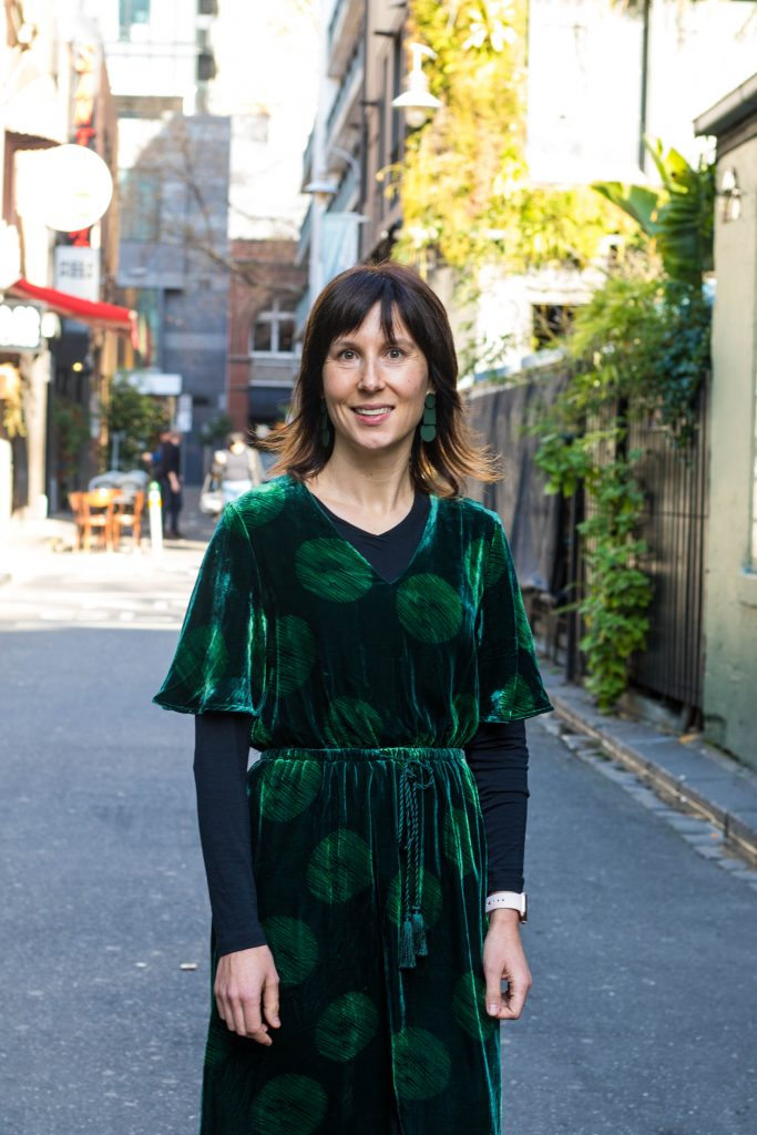Harriet McCallum pictured in laneway