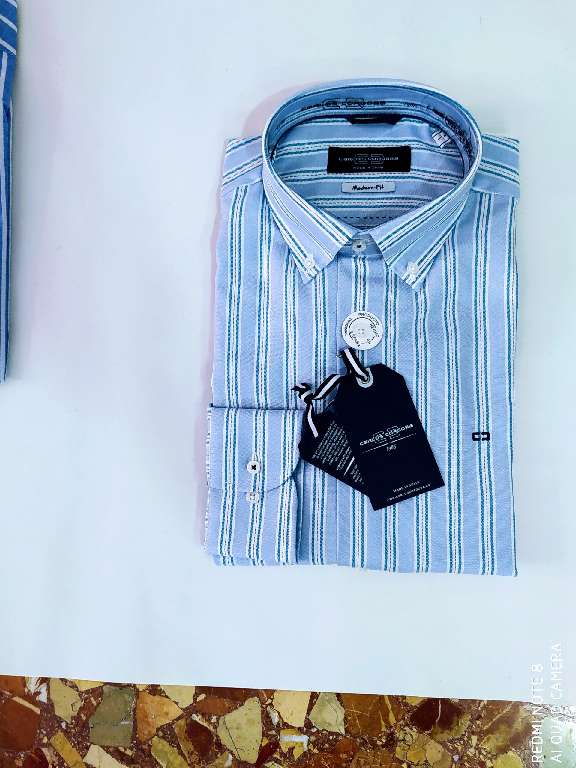 Camisa hombre LA ESPAÑOLA rayas azules 4255 | CONFECCIONES