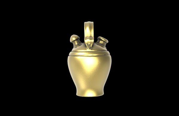 Botijo chapado oro