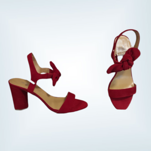 Sandalia piel ante tacón