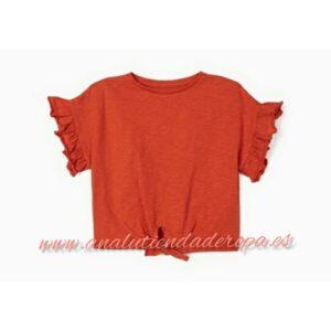 camiseta niña con nudo algodón orgánico Zippy