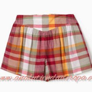 Falda pantalon cuadros